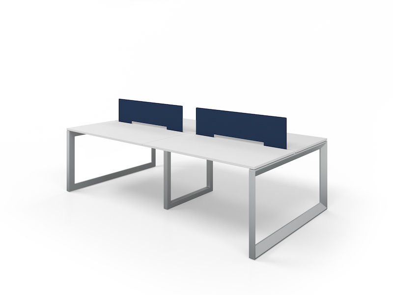 Pivit Benching in Silver with Nautica Fabric Screens
