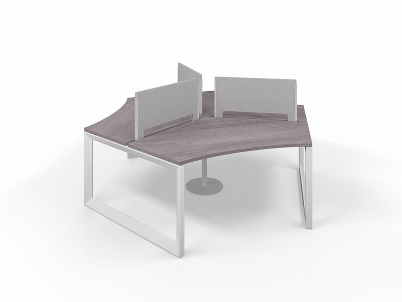 Pivit Pod (Grey Ash / White Base)     PET Screens (Smoke)