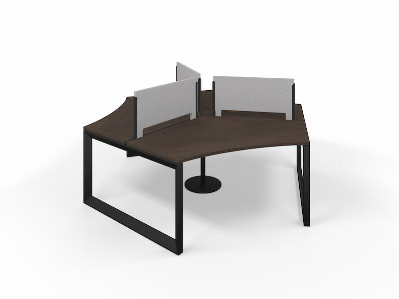 Pivit Pod (Cafe / Black Base)     PET Screens (Smoke)