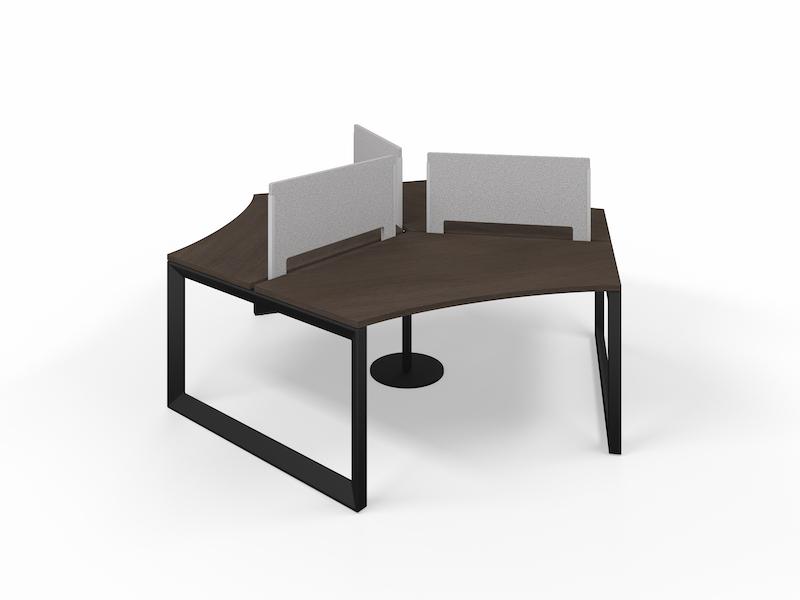 Pivit Pod in Matte Black with Café Top