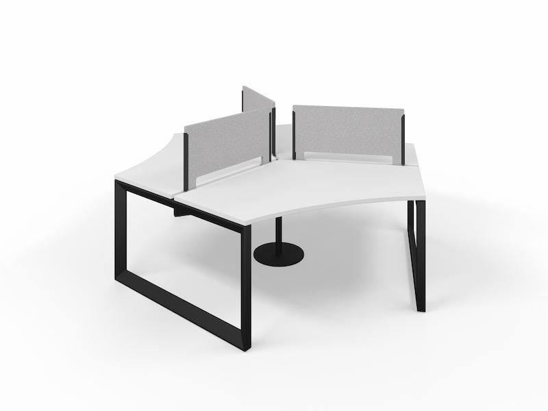 Pivit Pod (White / Black Base)     PET Screens (Smoke)