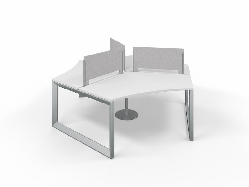 Pivit Pod (White / Silver Base)     PET Screens (Smoke)
