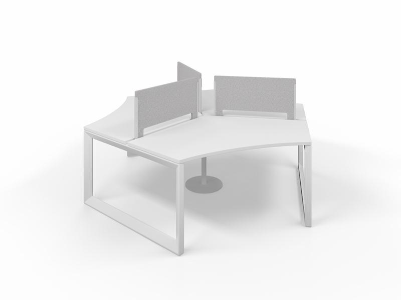 Pivit Pod (White / White Base)     PET Screens (Smoke)