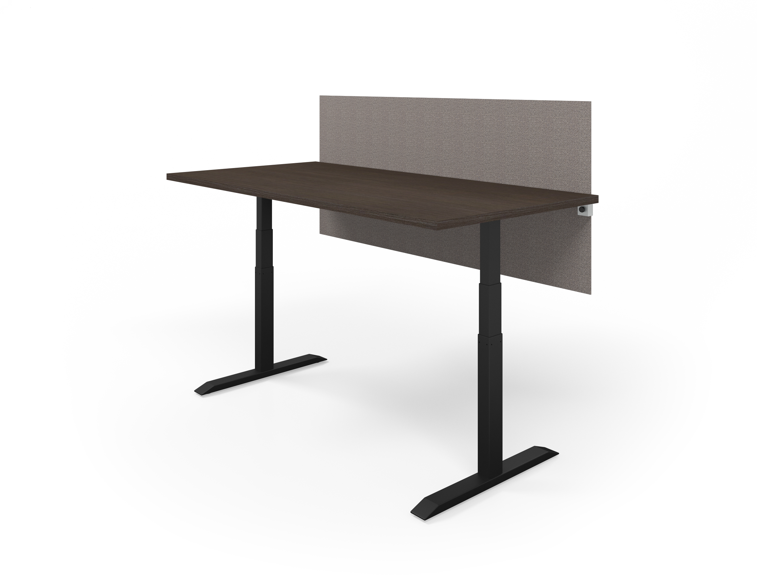 HiLo Table in Black with Cafe Top and Bangle Granite Screen (with Universal Clamp)