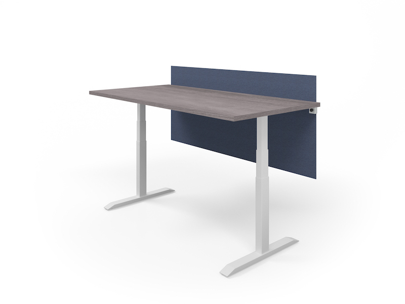 Universal Clamp-on Screen | HiLo Table (Grey Ash/White Base)