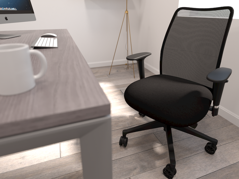 Pivit Open Frame Desk | Argos Task Chair