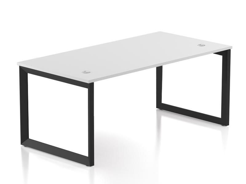 Pivit Open Frame Desk (White/Black Base)