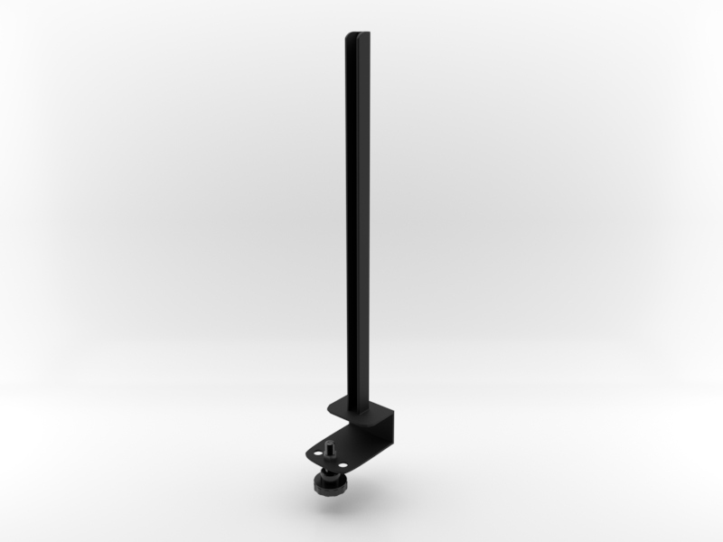 Worksurface Mount Bracket | Front Facing in Black