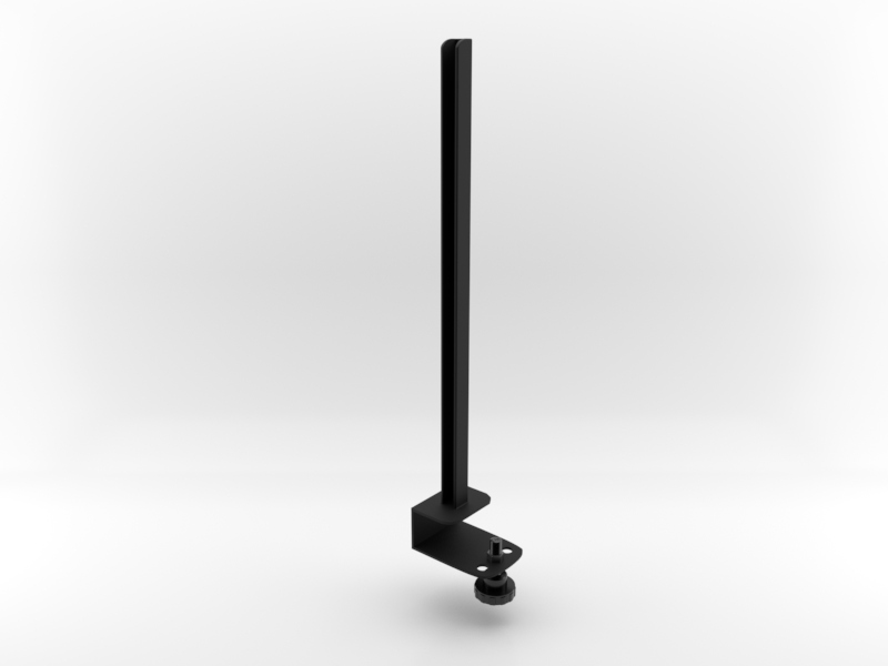 Worksurface Mount Bracket | Right Facing in Black