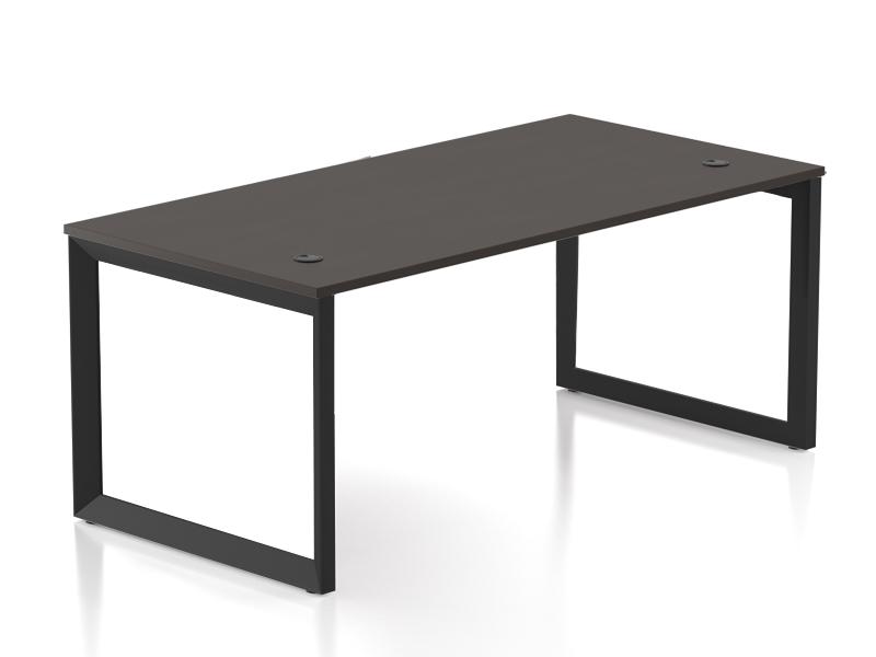 Pivit Open Frame Desk (Café/Black Base)
