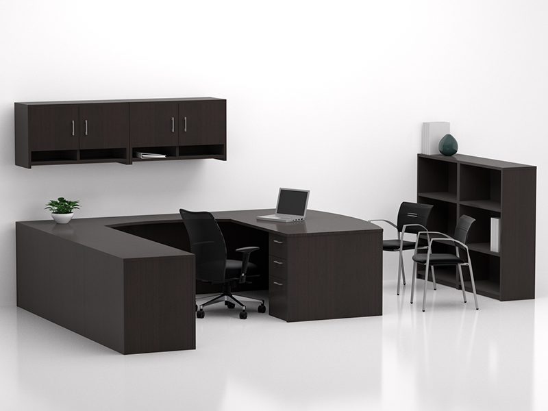 Crescendo U Shape Desk (Mocha)