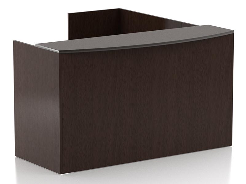 Crescendo Reception Desk (Mocha)