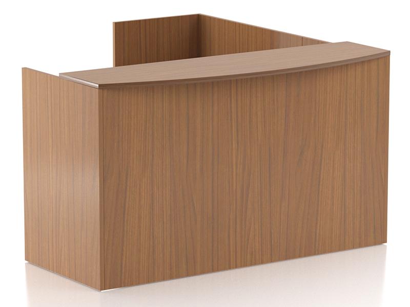 Crescendo Reception Desk (Walnut)