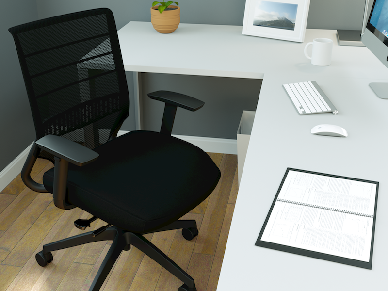 Pivit Open Frame Desk | Friday Task Chair