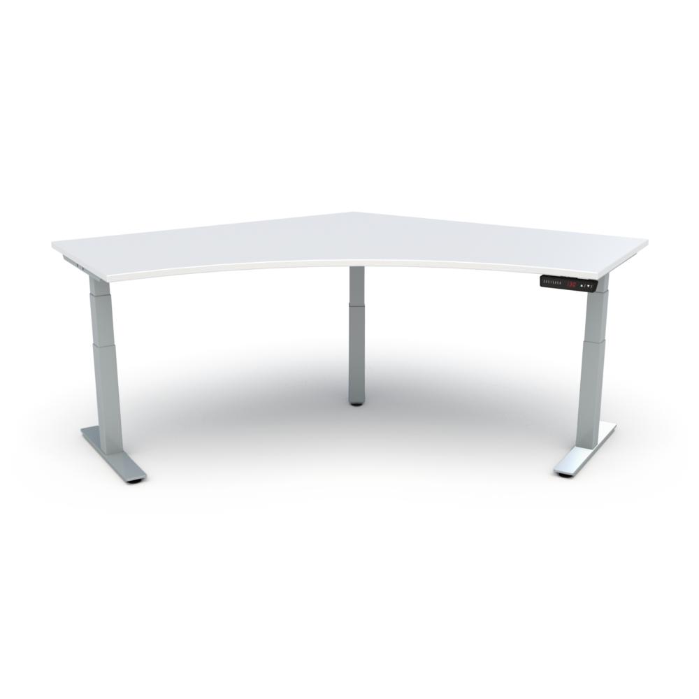 HiLo 3-Leg Base in Silver w/ White