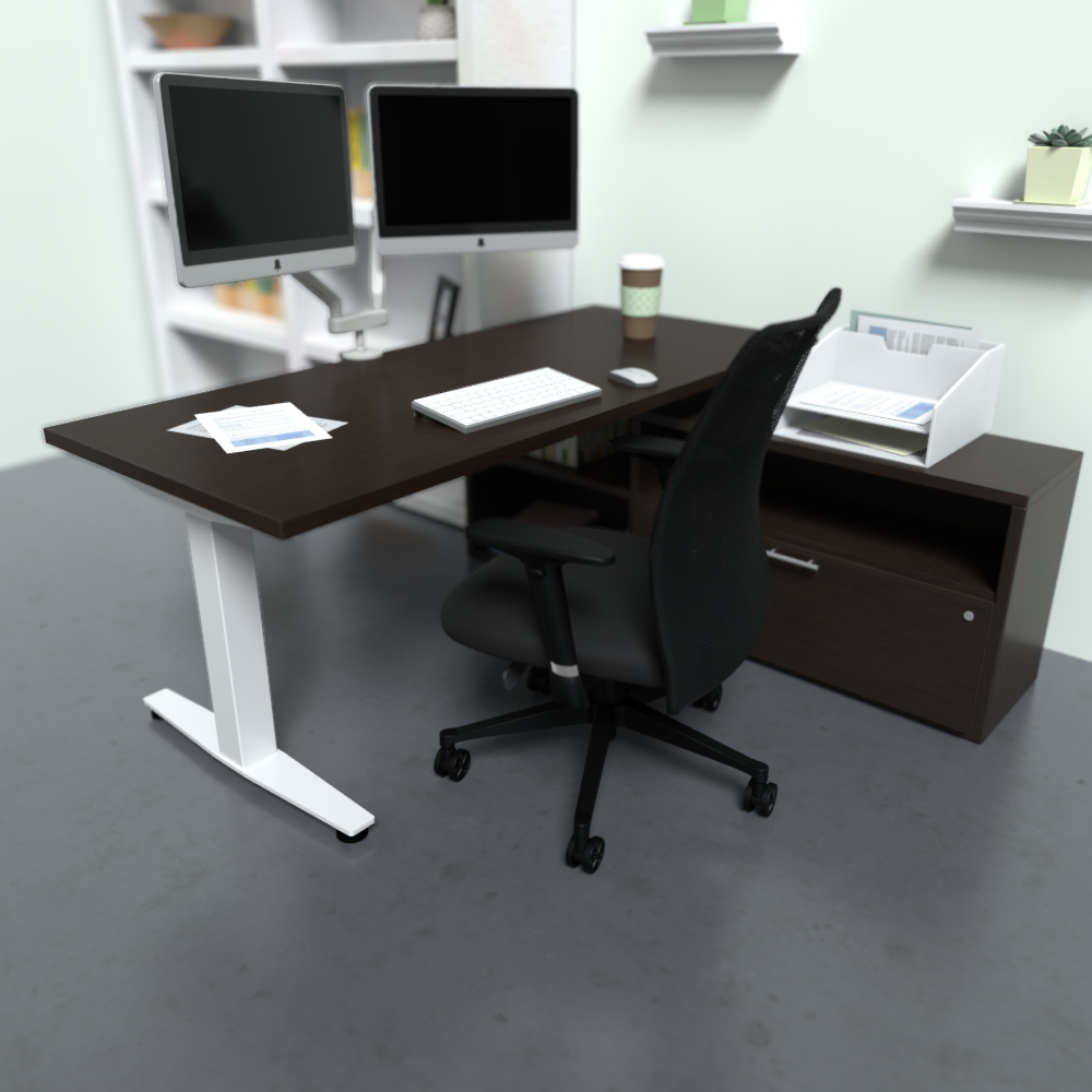HiLo 2L in White w/ Cafe Worksurface | Argos Task