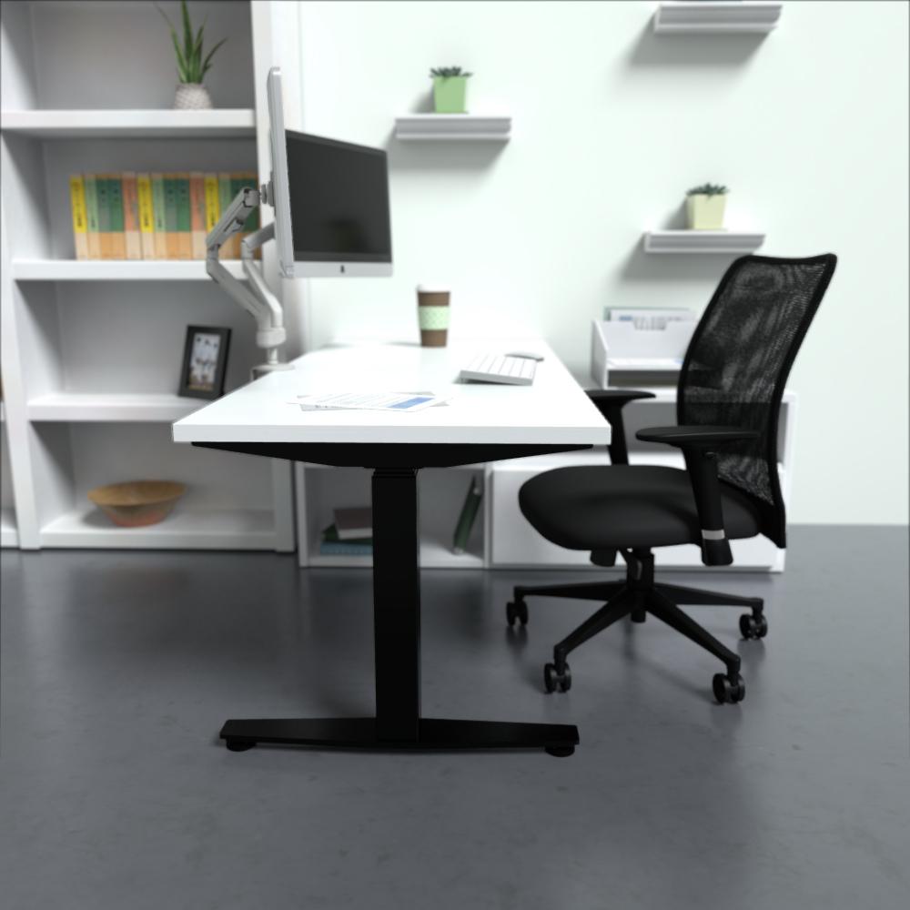 HiLo 2L in Black w/ White Worksurface | Argos Task