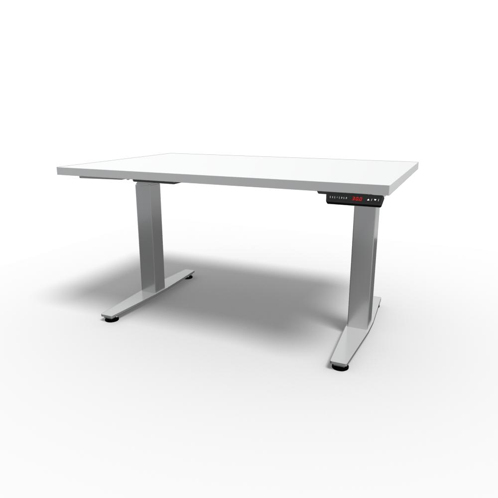 HiLo 2-Leg Base in Silver w/ White