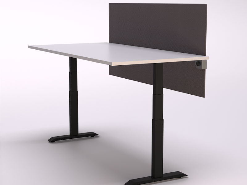 2 Leg HiLo Table with Universal Clamp-on Screen