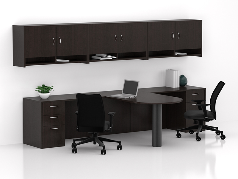 Insignia D Top Desking (Mocha cherry) | Argos Task Seating