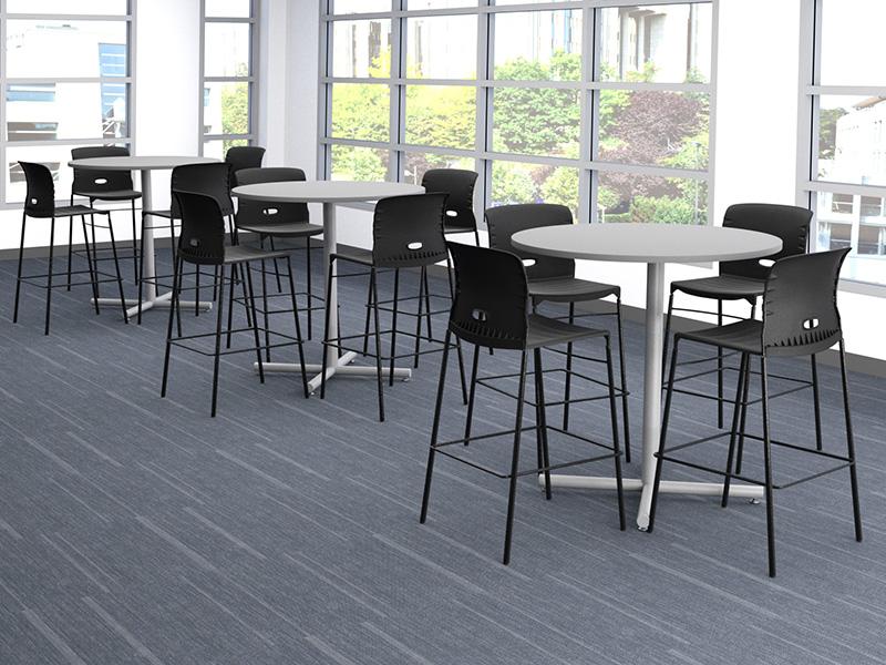 Konnekt Stools (Black/Black) | Geo Cafe Height Tables