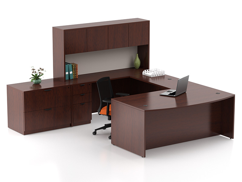 Liberty U Shape Desk (Mahogany)
