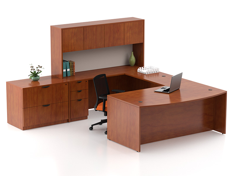 Liberty U Shape Desk (American Cherry)