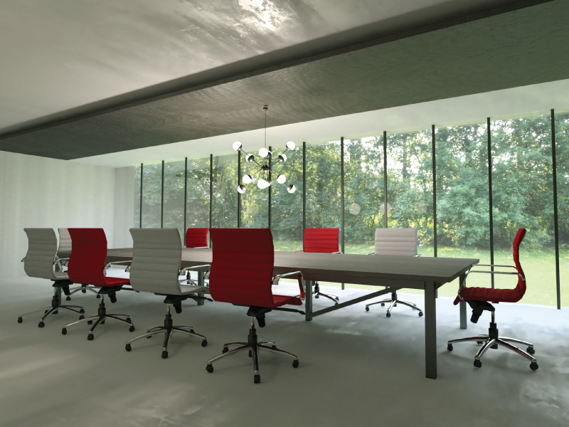 Mojo Hex Conference Chairs in Ruby and Pearl  | Pivit Conference Table