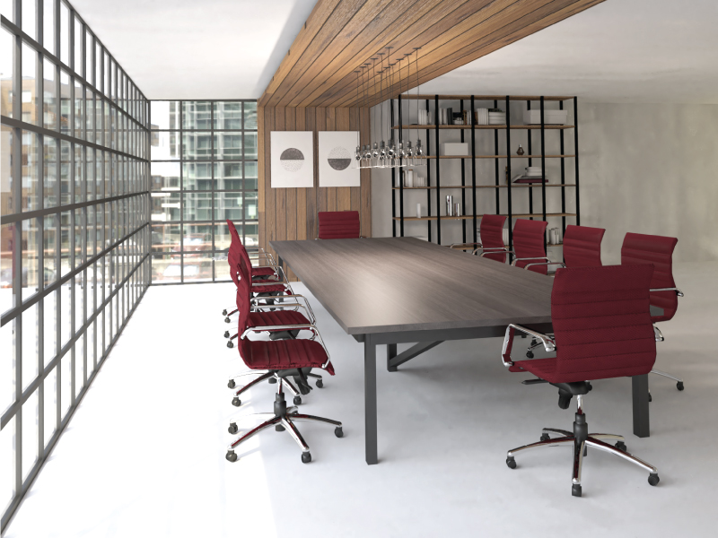 Mojo Hex Conference Chairs in Garnet