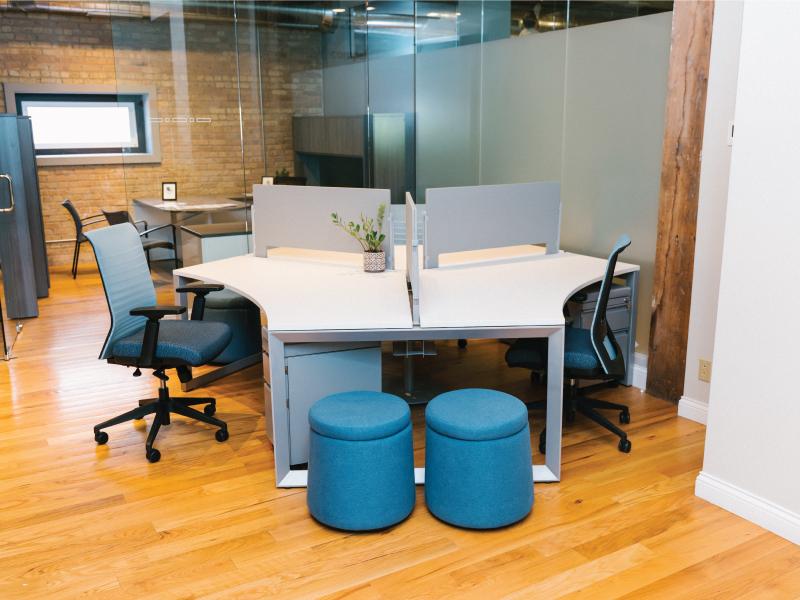 Lucky Task Chairs (Celeste/Fuse Azurean) | Pivit Pod