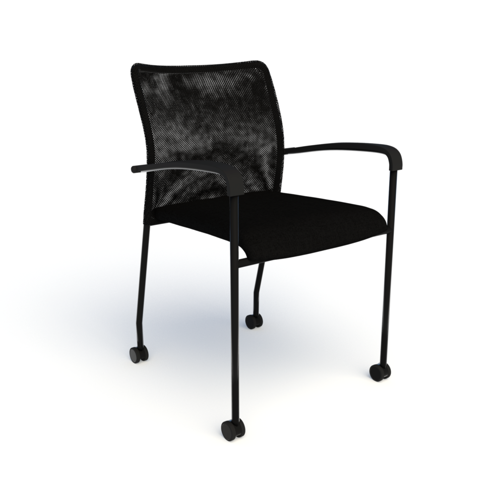 Match Chair (Mobile) in Black with Black Mesh