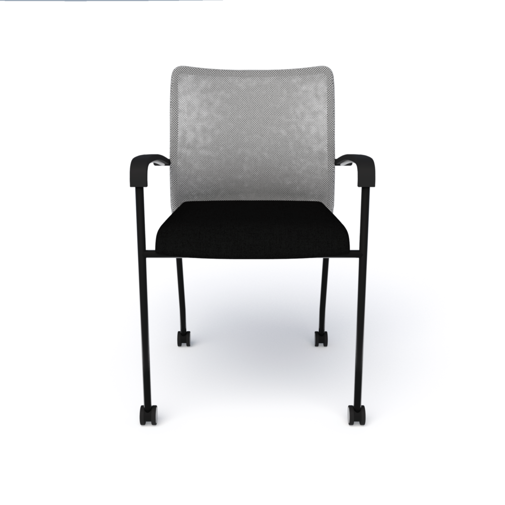 Match Chair (Mobile) in Black with Silver Mesh