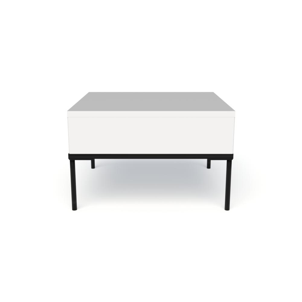 Mia In-Line Table, White, on Single Frame