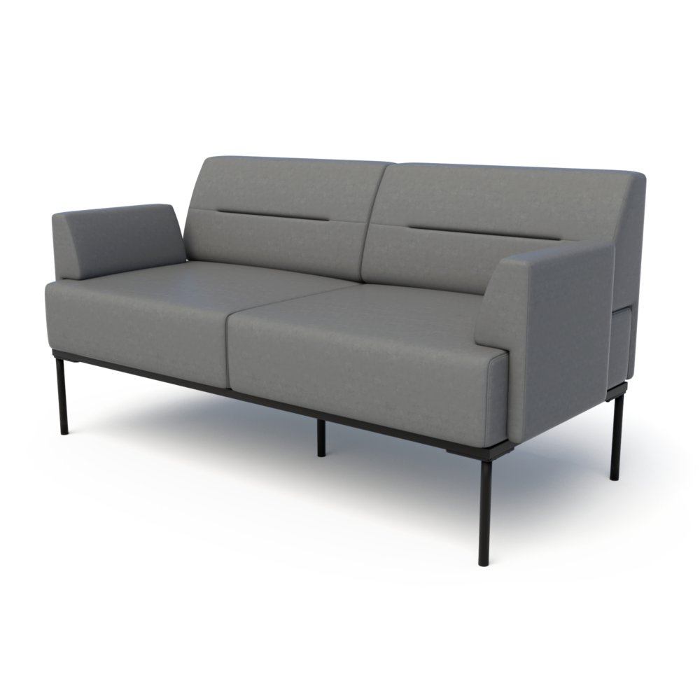 Mia Loveseat in Anchor with Arms