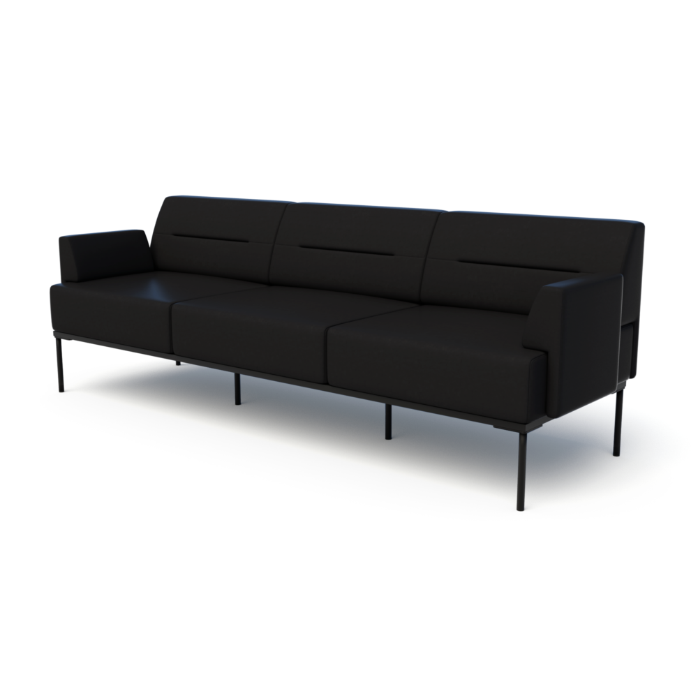 Mia Sofa in Jet with Arms