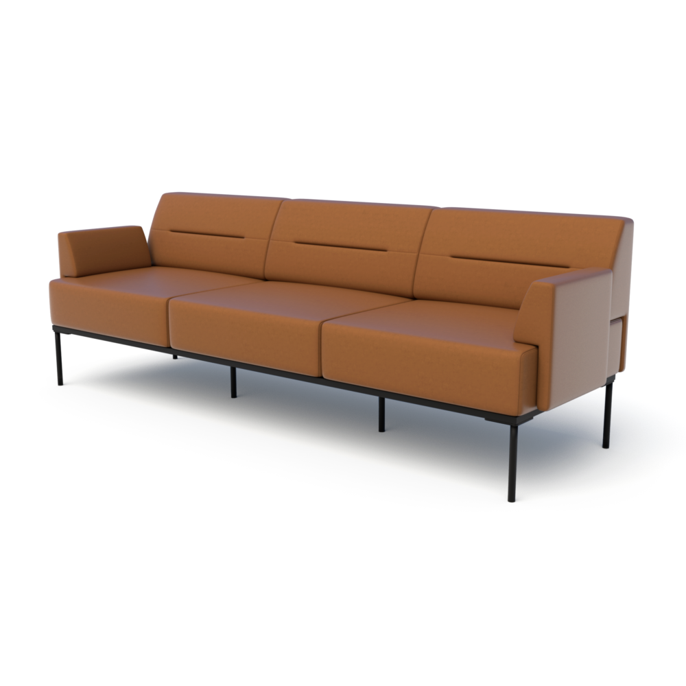 Mia Sofa in Saddle with Arms
