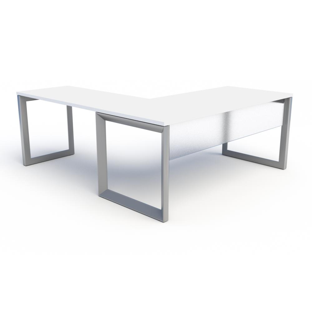 Frosted Acrylic Modesty on Pivit Open Frame Desk