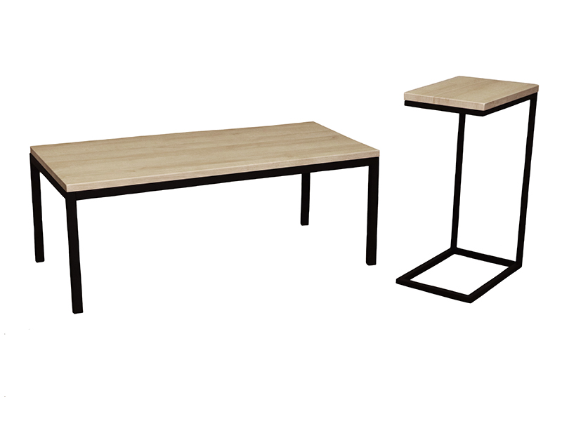Mia Coffee & Espresso Tables in Prairie with Black Base