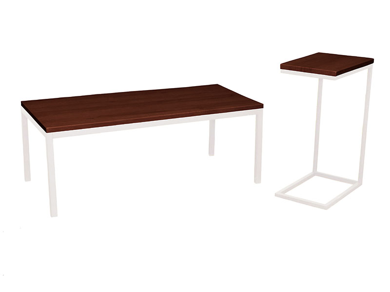 Mia Coffee & Espresso Tables in Prairie with Black Bases