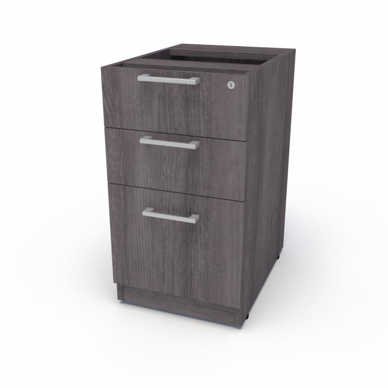 Top Supporting Pedestal, Box Box File (Grey Ash)