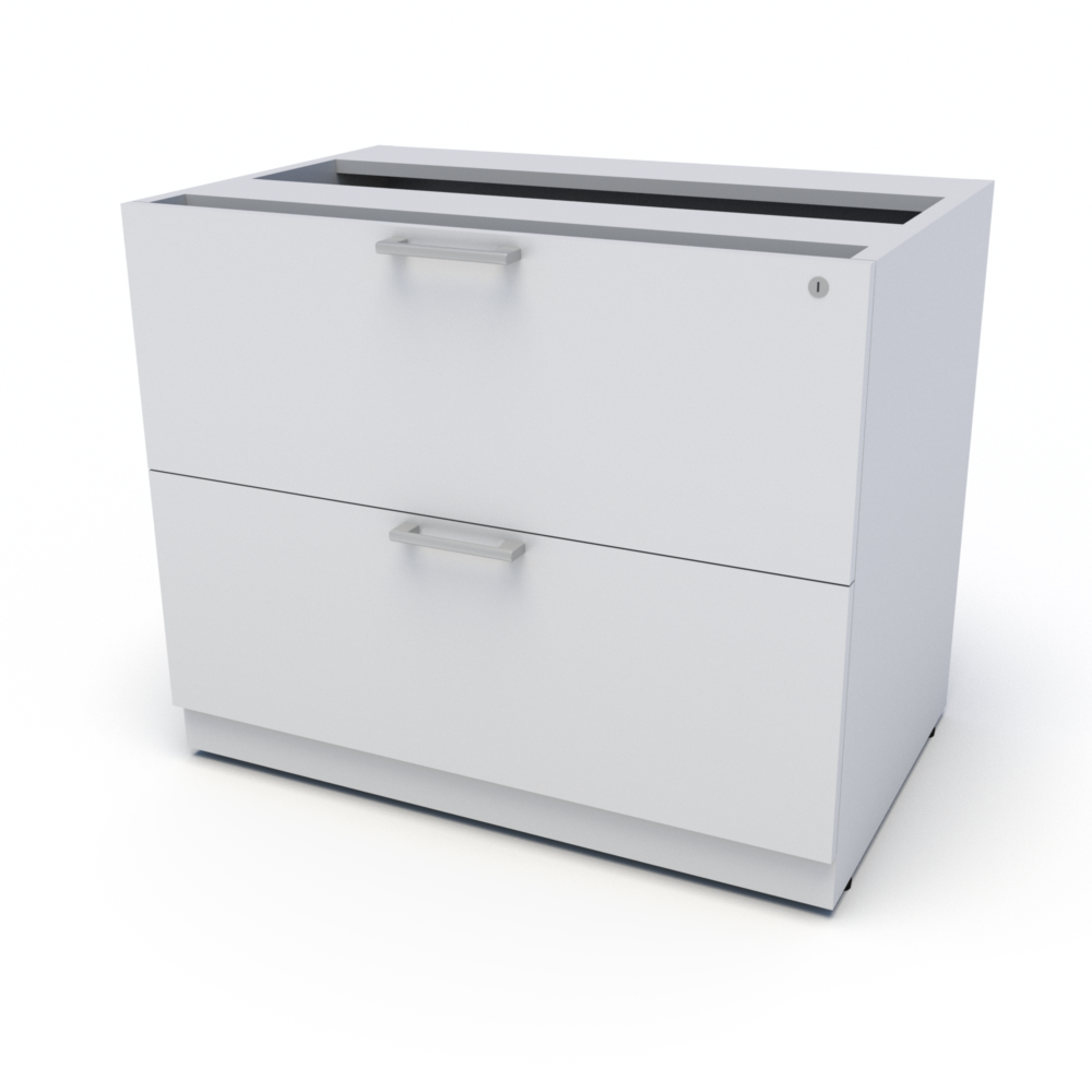 Top Supporting Lateral File (White)
