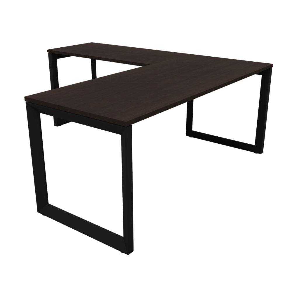 Pivit Frame L-Desk   Café / Black