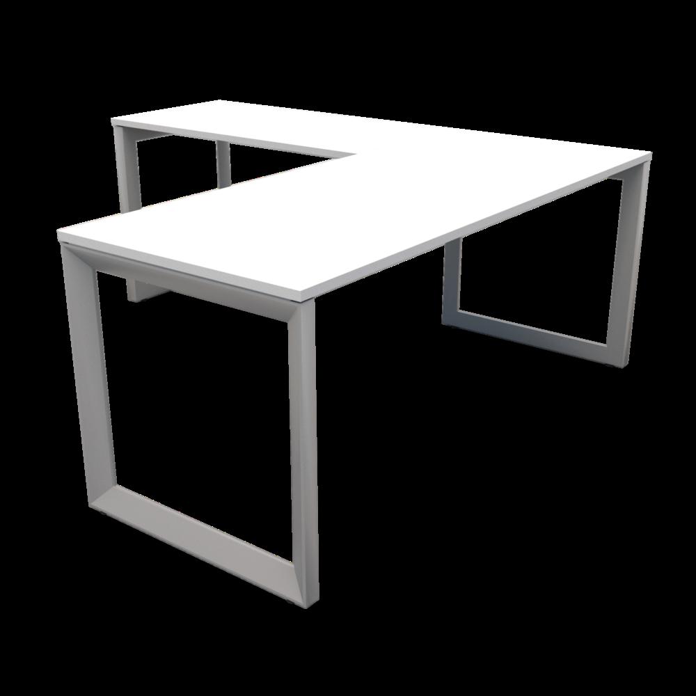 Pivit Frame L-Desk   White / Silver
