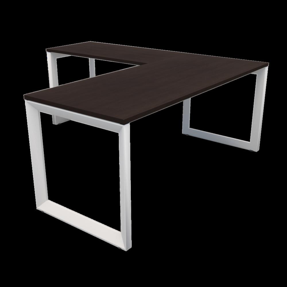 Pivit Frame L-Desk   Café / White