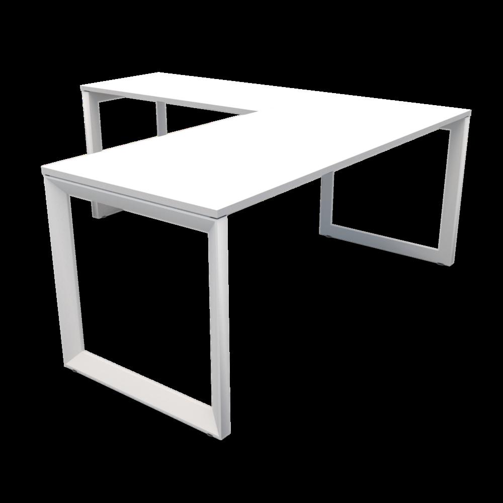 Pivit Frame L-Desk   White / White