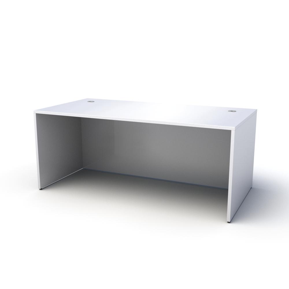 Pivit Straight Desk in White