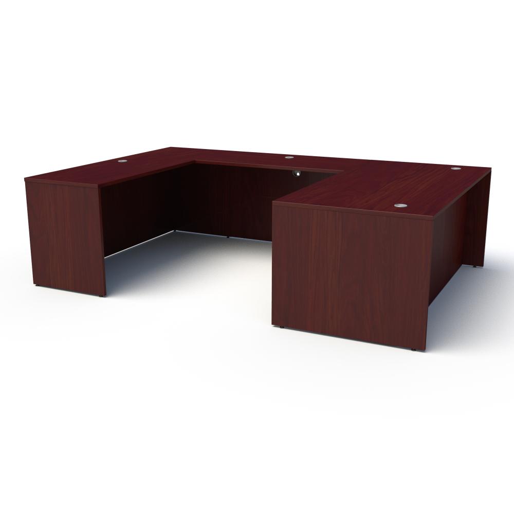 Pivit U-Shaped Desk in American Cherry