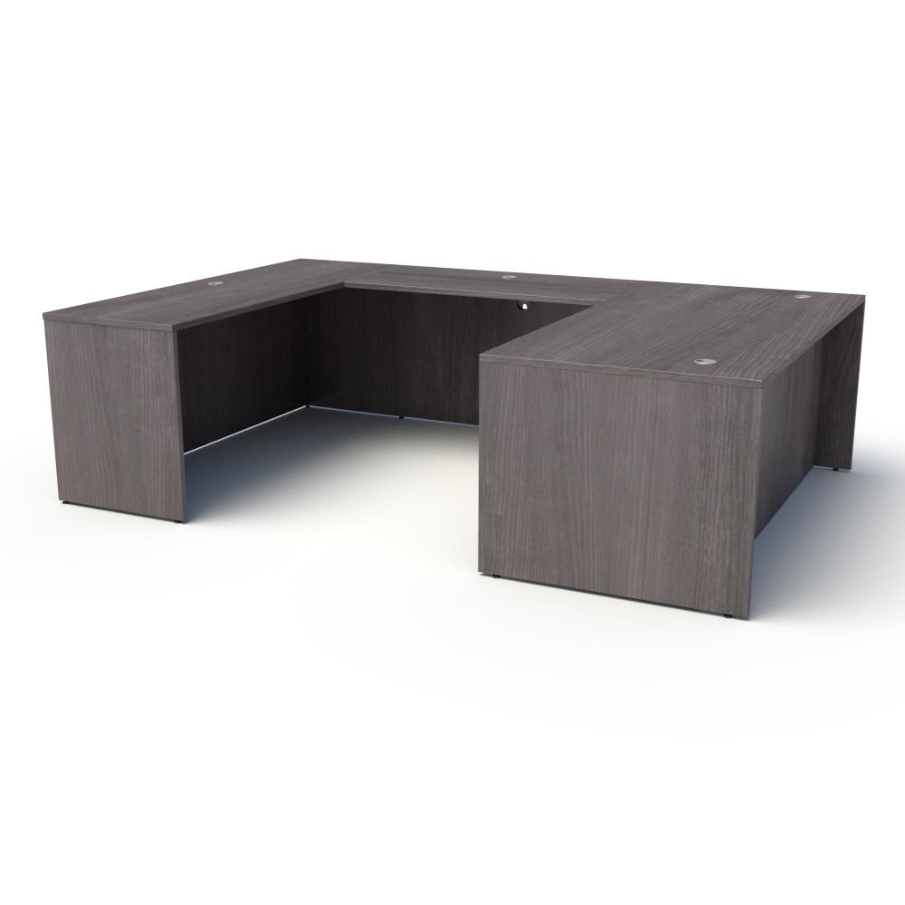 Pivit U-Shaped Desk in Grey Ash