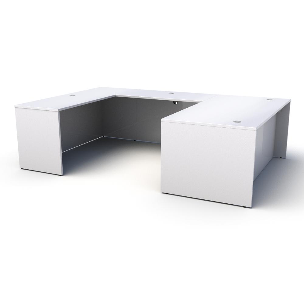 Pivit U-Shaped Desk in White