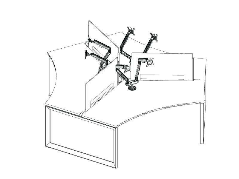 Pivit Pod with Monitor Arms